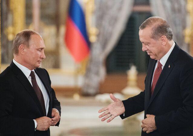 Rusya Devlet Başkanı Vladimir Putin- Türkiye Cumhurbaşkanı Recep Tayyip Erdoğan