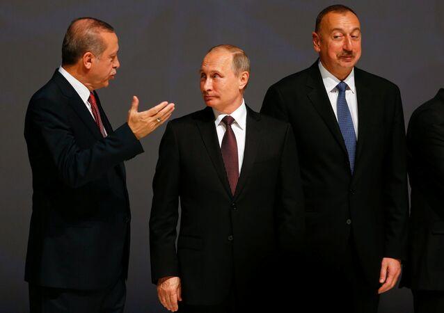 Recep Tayyip Erdoğan - Vladimir Putin - İlham Aliyev