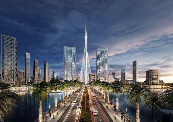 Dubai'de yüksekliği 928 metre olan The Tower kulesinin 2020 yılına doğru inşa edileceği planlanmaktadır. Aynı yıl Dubai'de EXPO Uluslararası Fuarı düzenlenecek. - Sputnik Türkiye