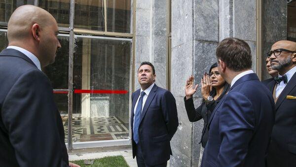 Venezülla Dışişleri Bakan Yardımcısı Samuel Moncada ve beraberindeki heyet, Meclis'i ziyaret etti. - Sputnik Türkiye