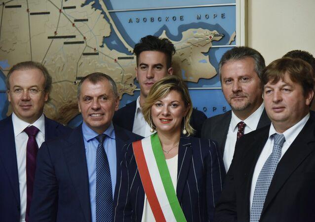 Kırım'daki İtalyan parlamenter ve işadamları