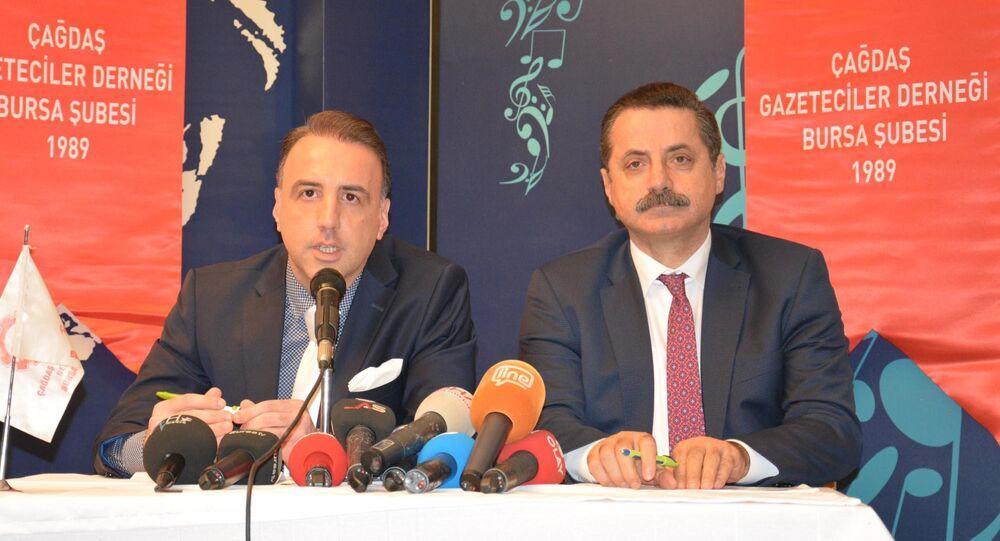 Gıda Tarım ve Hayvancılık Bakanı Faruk Çelik, Çağdaş Gazeteciler Derneği Bursa Şubesi'nde
