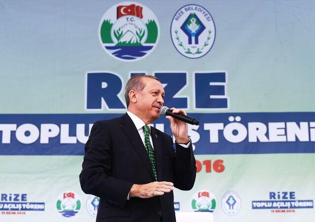Erdoğan Rize'de halka seslendi