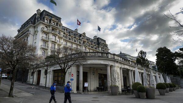 Lozan Antlaşması'nın imzalandığı Beau-Rivage Palace Oteli - Sputnik Türkiye