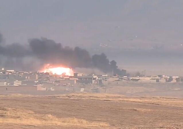 Koalisyon uçakları Musul'daki IŞİD mevzilerini bombalıyor