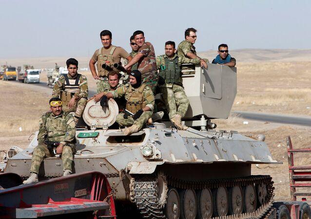 Musul operasyonuna katılan Peşmerge güçleri