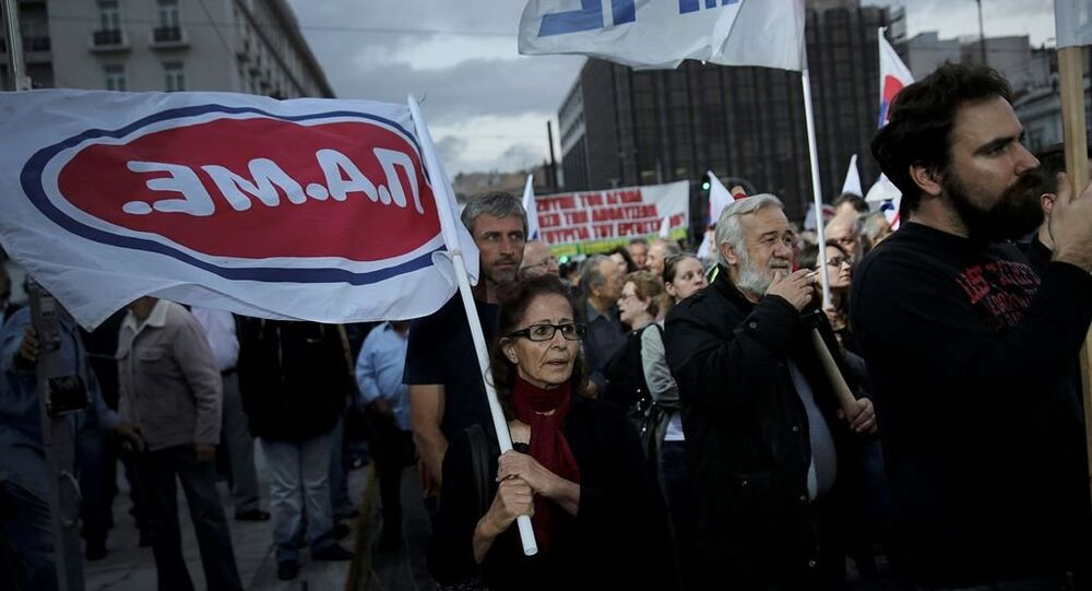 Yunanistan hükümet protestosu