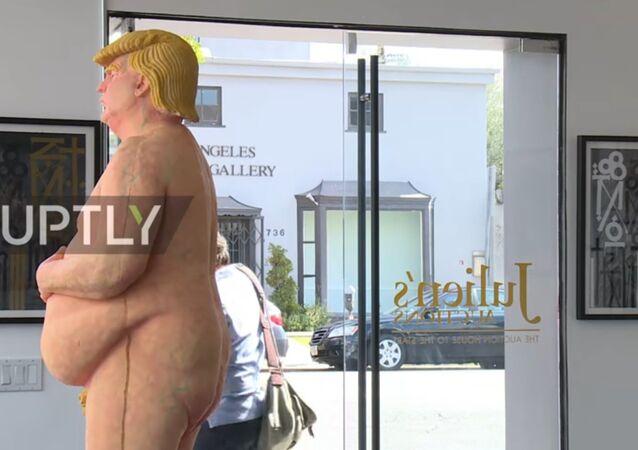 Donald Trump heykeli / Video haber