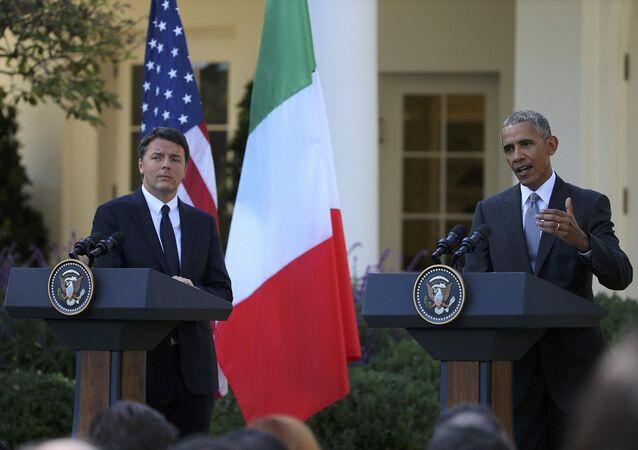 Barack Obama ve Matteo Renzi, ortak basın toplantısında konuştu.