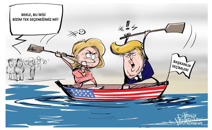 Clinton ve Trump  canlı yayında son kez karşı karşıya geldi.