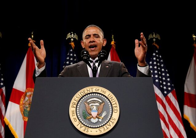 Barack Obama, Miami'deki Dade College'da konuşma yaptı