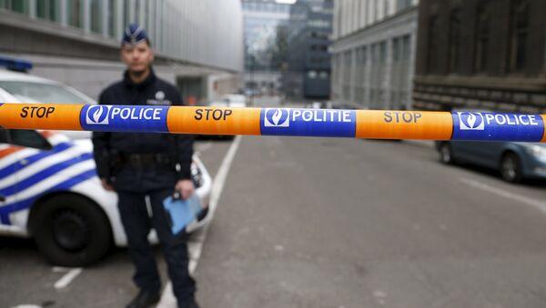 Belçika polis kordon - Sputnik Türkiye