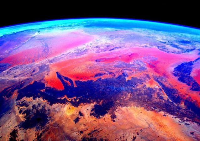 Astronot Scott Kelly'nin Uluslararası Uzay İstasyonu'ndan(UUİ) çektiği fotoğraf.