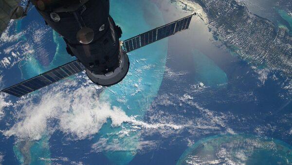 Dünya'nın Uluslararası Uzay İstasyonu'ndan çekilen fotoğrafı. - Sputnik Türkiye