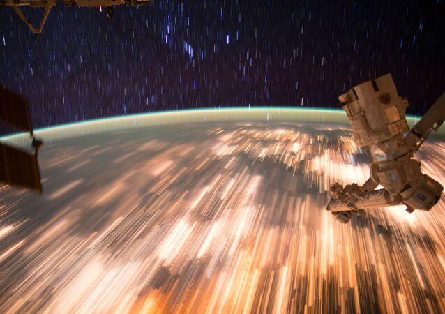 Dünya'nın Uluslararası Uzay İstasyonu'ndan çekilen fotoğrafı.
