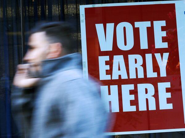 ABD'de erken oy verme işlemi başladı. - Sputnik Türkiye