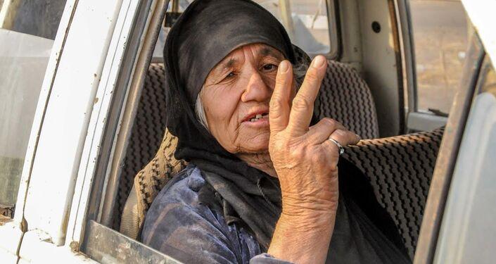 IŞİD'in zulmünden kaçan Musullu bir köylü kadını