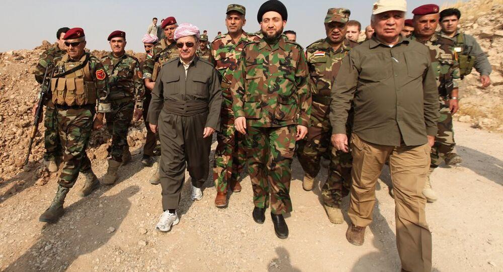 Irak Kürt Bölgesel Yönetimi (IKBY) Başkanı Mesud Barzani, Şii Ulusal Koalisyonu lideri Ammar el Hekim'le birlikte Musul'da kameralar karşısına geçti.