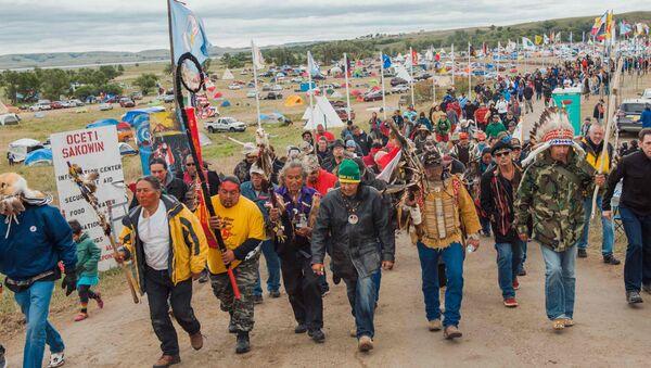 Kuzey Dakota'daki boru hattı protestoları - Sputnik Türkiye