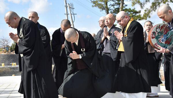 Japonya'daki Budist rahipler. (Arşiv) - Sputnik Türkiye