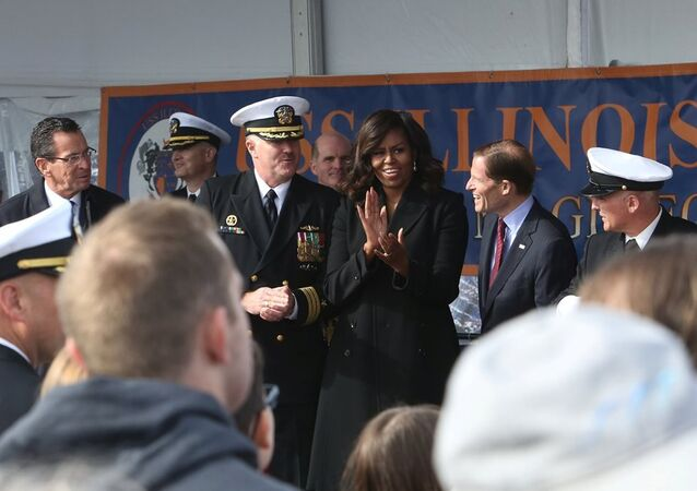 Michelle Obama - Illinois nükleer denizaltı