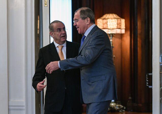 Kıbrıs Dışişleri Bakanı Yannis Kasulidis- Rusya Dışişleri Bakanı Sergey Lavrov