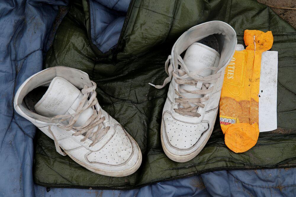 Calais'deki sığınmacı kampı'Vahşi Orman'dan geriye kalanlar