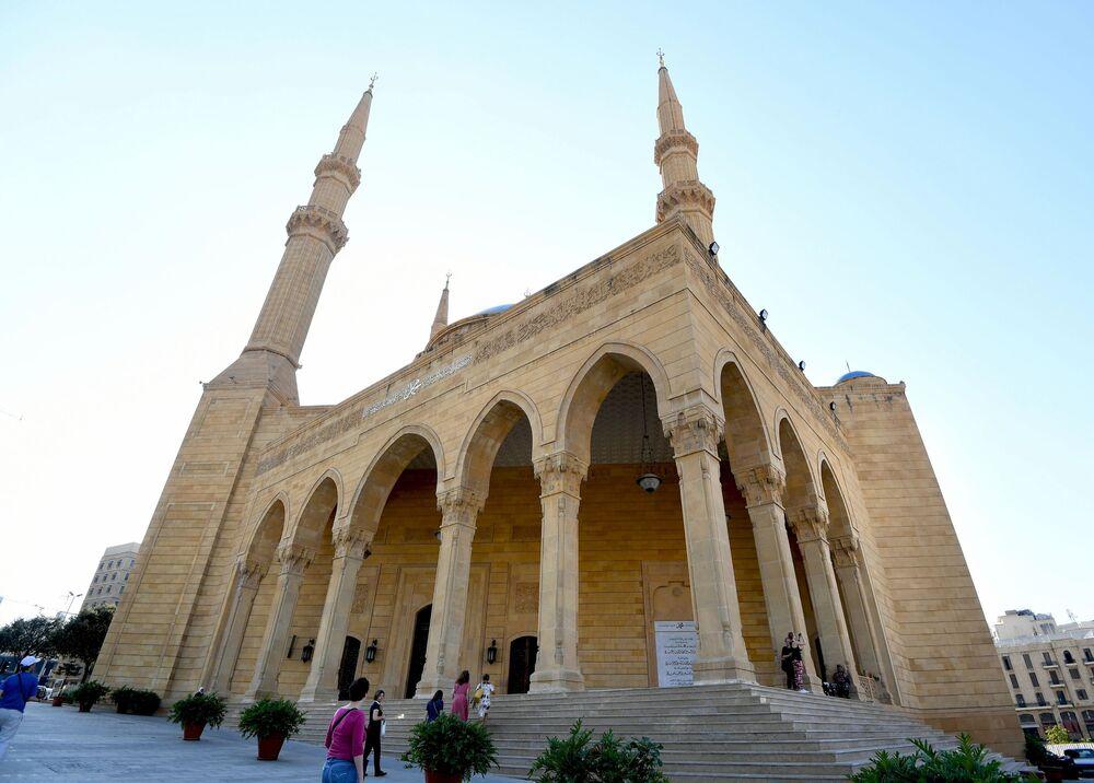 Beyrut'un merkezindeki Muhammed El-Amin Sünni camii.