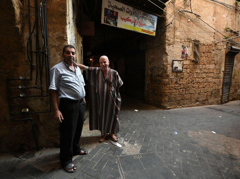 Lübnan'ın Sayda şehrinde yaşayanlar.
