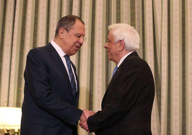 Sergey Lavrov - Prokopis Pavlopulos