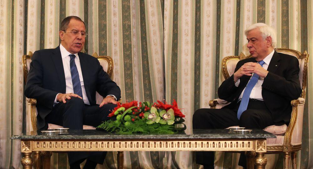Rusya Dışişleri Bakanı Sergey Lavrov- Yunanistan Cumhurbaşkanı Prokopis Pavlopulos