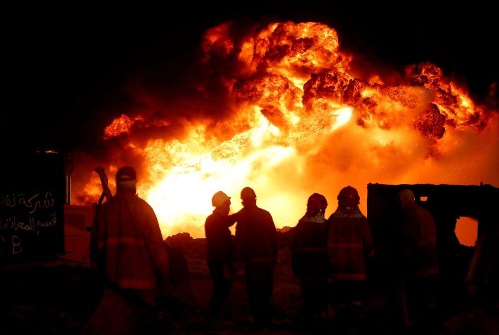 Musul - Kayyara - petrol kuyuları - yangın