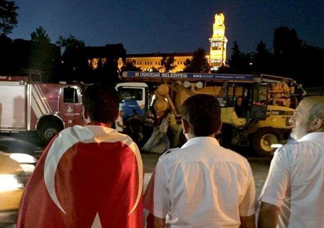 Darbe girişimi gecesi Selimiye Kışlası