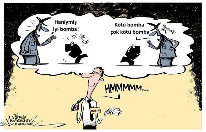 Ortadoğu'da atılan bombaların da iyisi ve kötüsü var