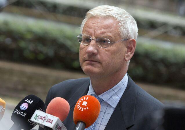 İsveç eski Başbakan ve Dışişleri Bakanlarından AB Dış İlişkiler Konseyi üyesi Carl Bildt