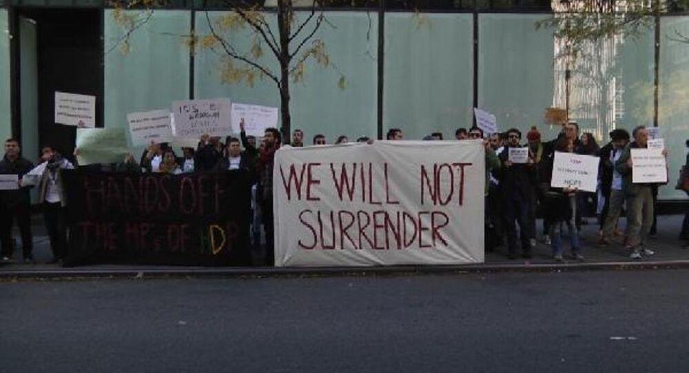 New York'ta HDP'ye destek gösterisi