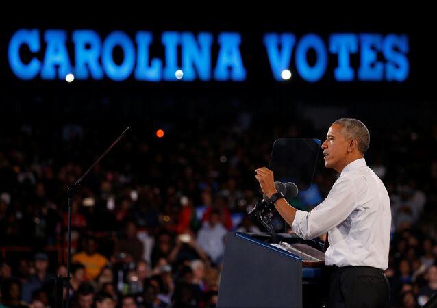 Obama Clinton için Carolina'daki mitingde konuştu