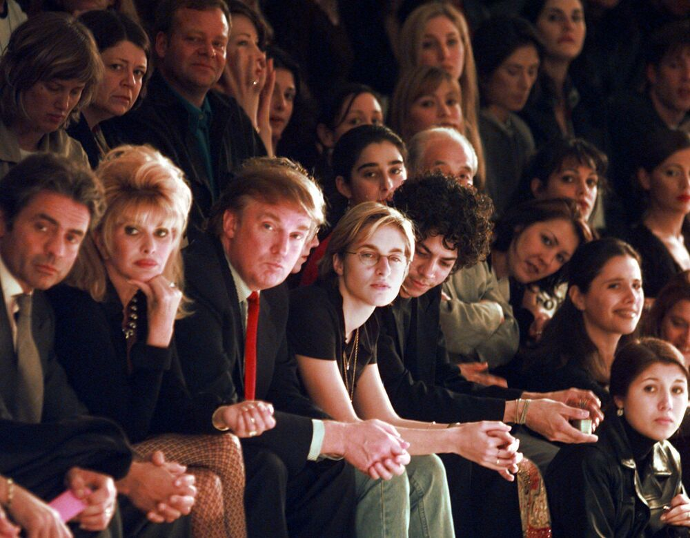 Trump, New York'ta bir defilede, 1997.