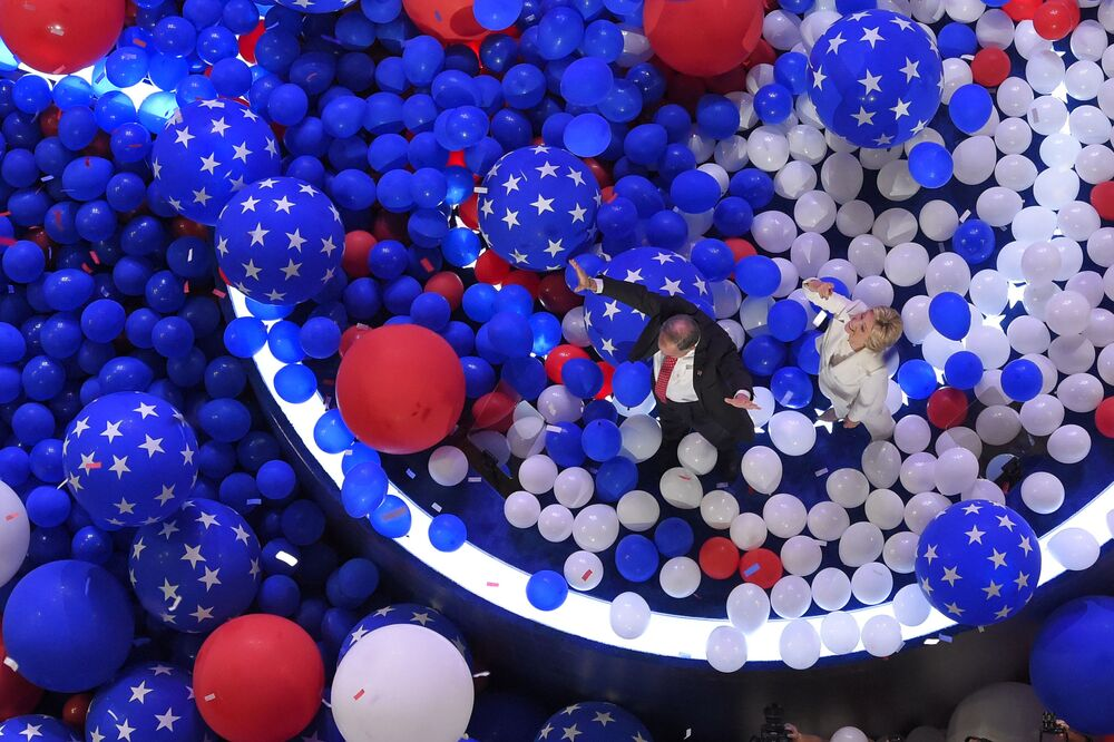 ABD başkan adayı Clinton Philadelphia'da.