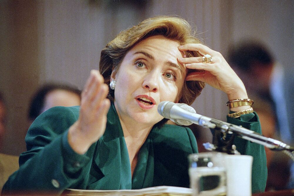First Lady Clinton, 1993.