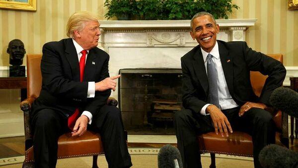 Donald Trump - Barack Obama - Sputnik Türkiye