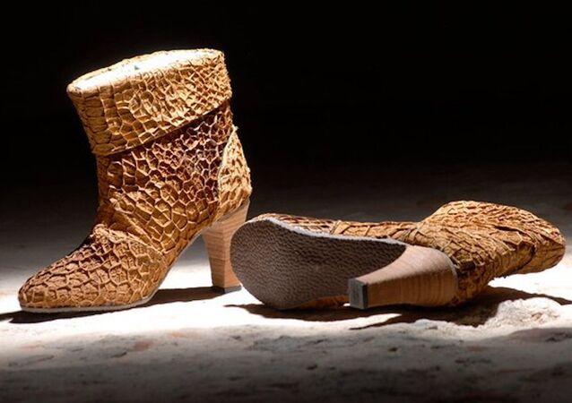 İnek midesinden ayakkabı