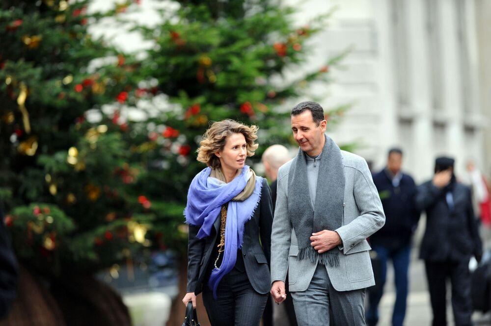 Suriye Devlet Başkanı Beşar Esad ve eşi Esma Esad