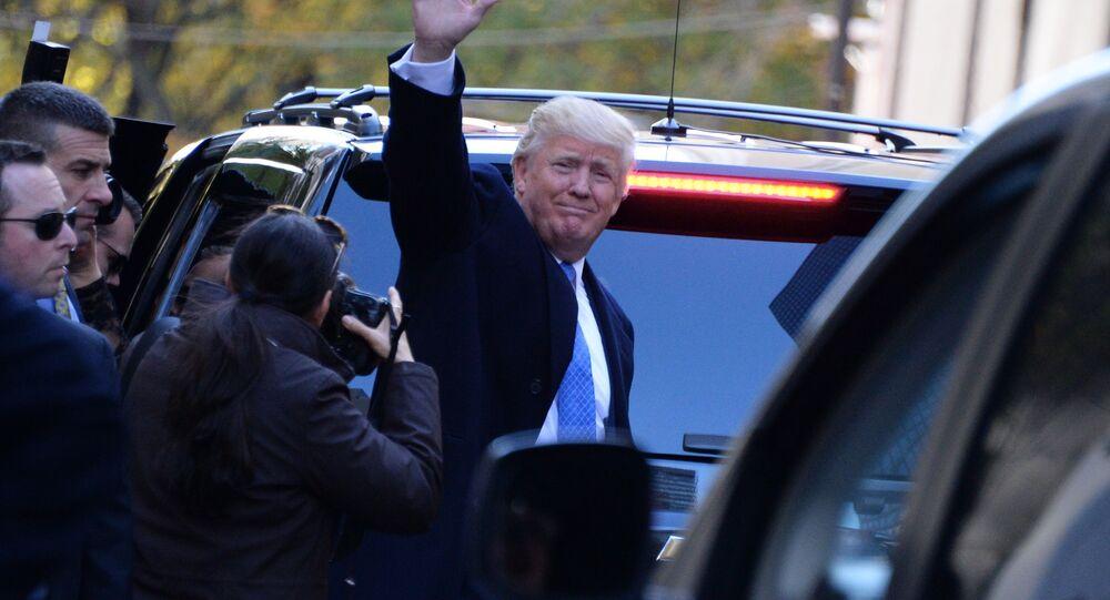 ABD'nin 45. Başkanı Donald Trump  seçimlerden sonra New York'ta.