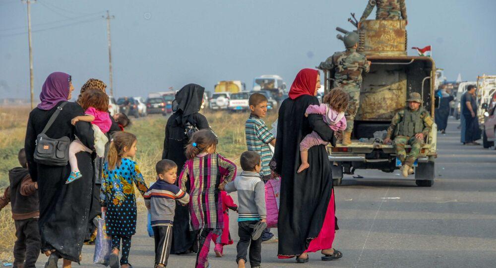 Musul'dan kaçan siviller