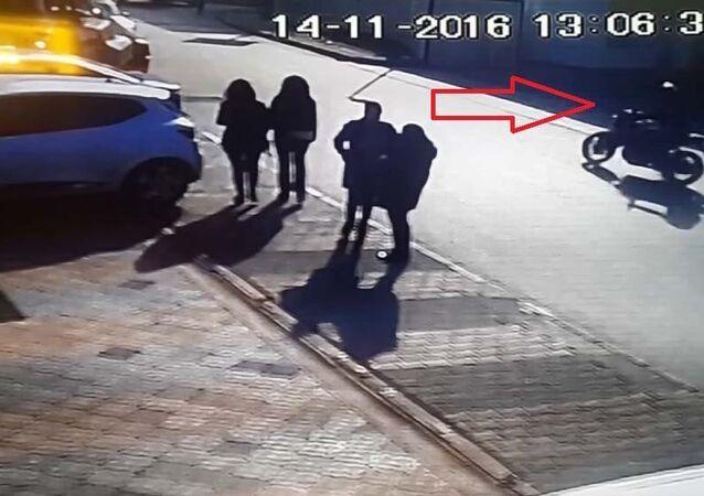 Maltepe'deki kargolu saldırının faili güvenlik kamerasına yakalandı.