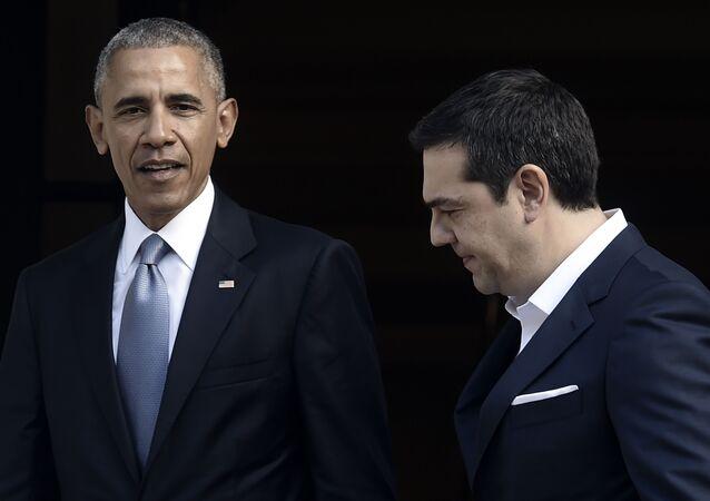 ABD Başkanı Barack Obama ve Yunanistan Başbakanı Aleksis Çipras