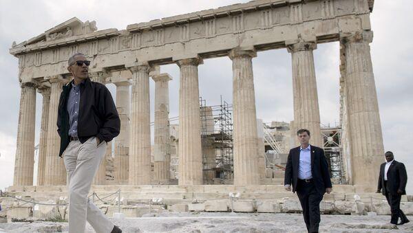 Obama, Akropolis'te - Sputnik Türkiye