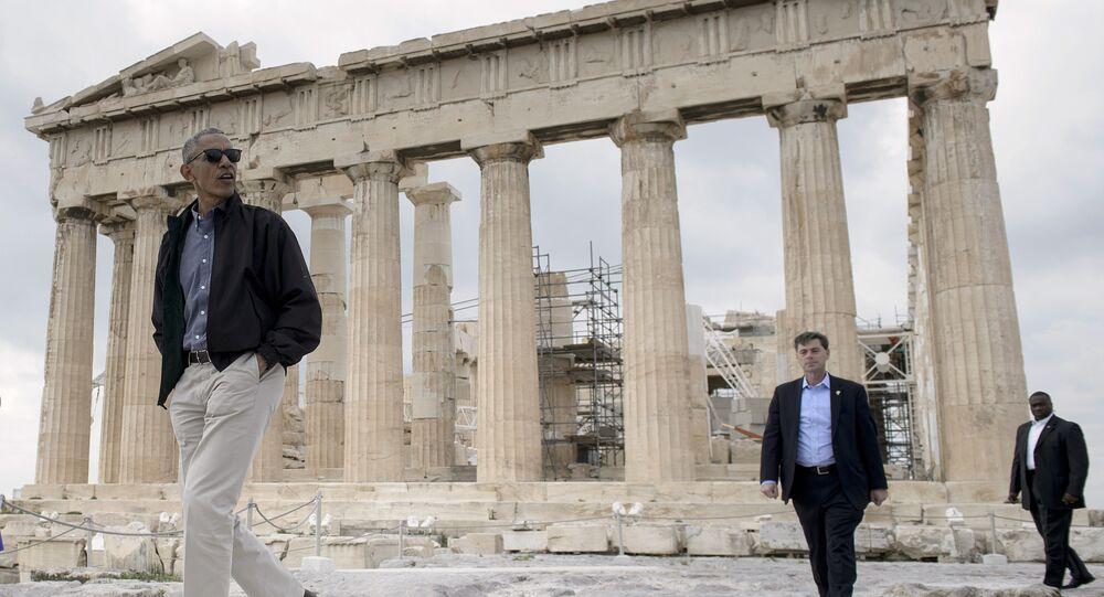 Obama, Akropolis'te