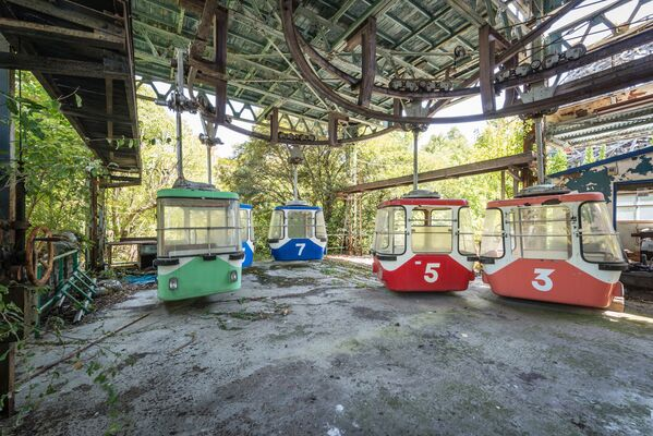Japonya'daki eğlence parkı Nara Dreamland 'hayalet kente' dönüştü - Sputnik Türkiye